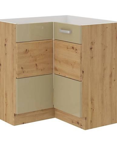 Skrinka do kuchyne Artisan cappuccino lesk 89X89 DN 1F BB