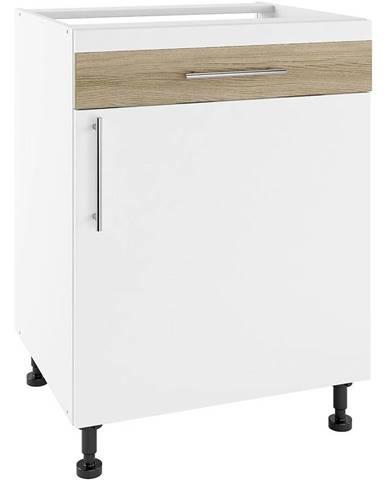 Skrinka do kuchyne Luna Lignum Bianco Super Mat PSZ 60/1