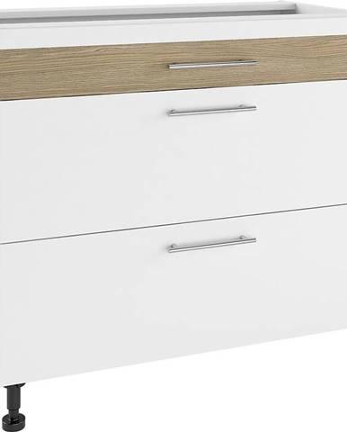 Skrinka do kuchyne Luna Lignum Bianco Super Mat PSZ 90/3