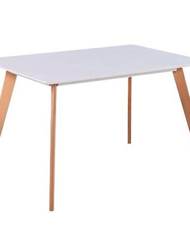 Jedálenský stôl Nordic 120 biela/buk