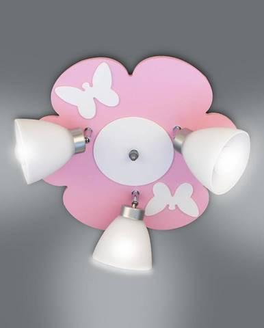 Lampa kvet K3Z-23 ružová/biela PL3