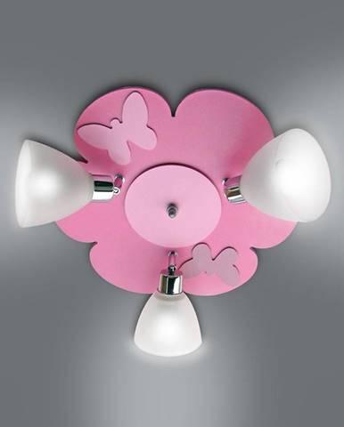 Lampa kvet K3Z20 ružová PL3