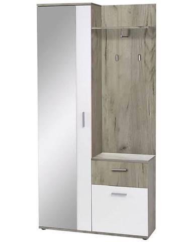 Predsieňový nábytok biela Justus biały/country grey