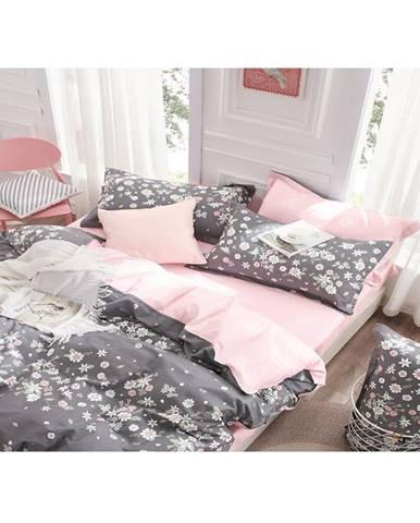 Bavlnená saténová posteľná bielizeň albs-01029b/2 140x200 lasher