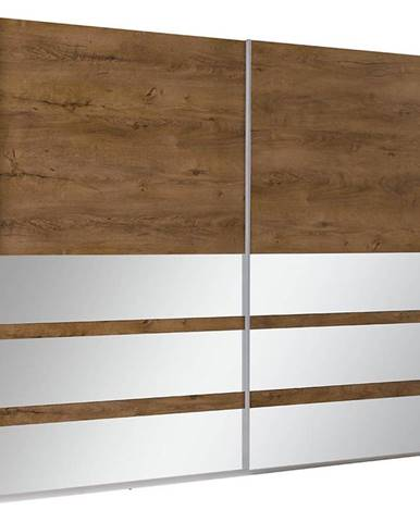 Skríňa Lux 22 244 cm dub lefkas Burgund/zrkadlo