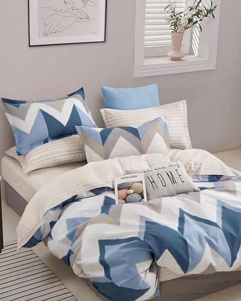 MERKURY MARKET Bavlnená saténová posteľná bielizeň ALBS-01225B 140X200