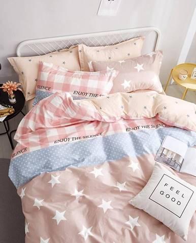 Bavlnená saténová posteľná bielizeň albs-0916b/2 140x200 lasher