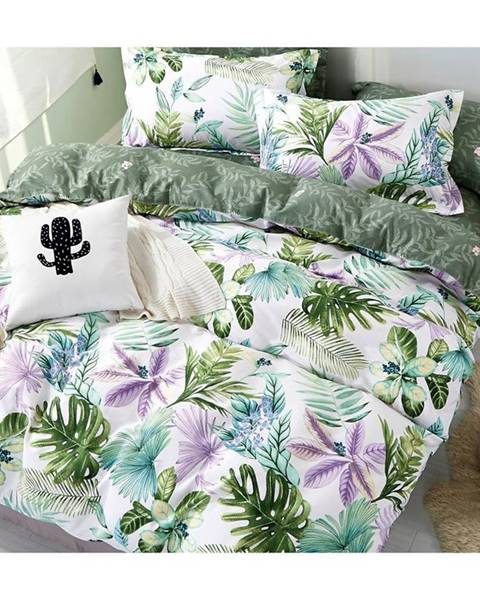 MERKURY MARKET Bavlnená  saténová  posteľná  bielizeň  Albs-01102b/2  140x200