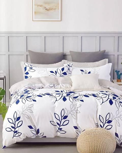 MERKURY MARKET Bavlnená saténová posteľná bielizeň  ALBS-01153B/2 140X200 Lasher