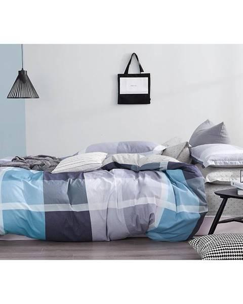 MERKURY MARKET Bavlnená saténová posteľná bielizeň ALBS-01159B/2 140X200 Lasher