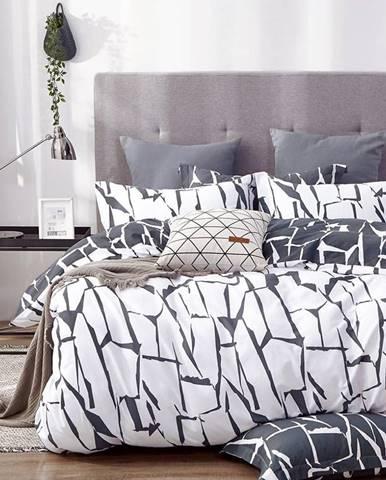 Bavlnená  saténová  posteľná  bielizeň  Albs-01104b/2  140x200