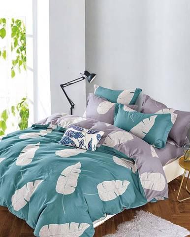 Bavlnená  saténová  posteľná  bielizeň  Albs-01124b/2  140x200