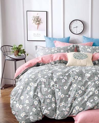 Bavlnená  saténová  posteľná  bielizeň  Albs-01125b/2  140x200