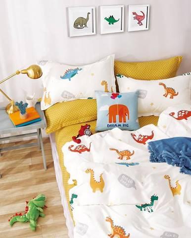 Bavlnená  saténová  posteľná  bielizeň  Albs-01126b/2  140x200