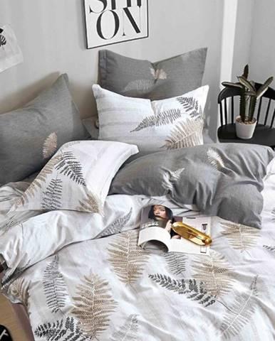 Bavlnená  saténová  posteľná  bielizeň  Albs-01128b/2  140x200