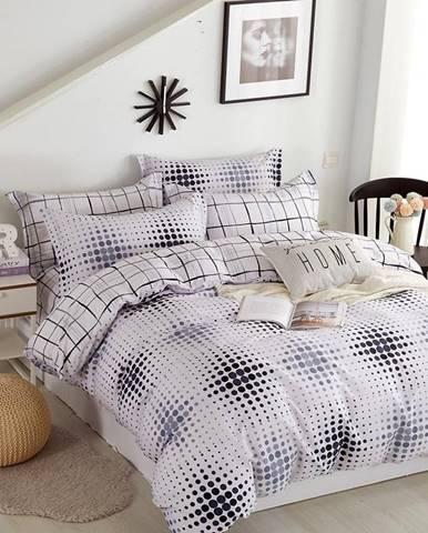 Bavlnená  saténová  posteľná  bielizeň  Albs-01133b/2  140x200