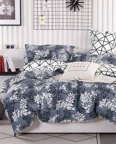 Bavlnená  saténová  posteľná  bielizeň  Albs-01137b/2  140x200