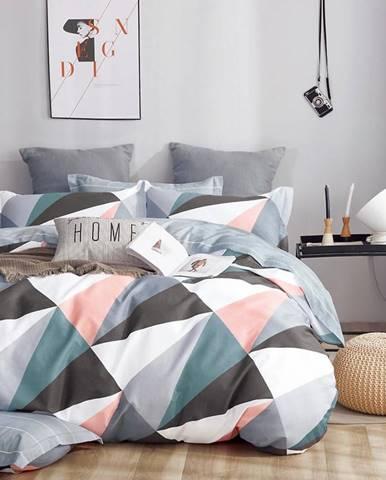 Bavlnená saténová posteľná bielizeň ALBS-01175B/2 140x200