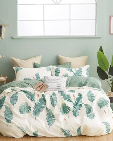 Bavlnená saténová posteľná bielizeň ALBS-01194B/3 160x200
