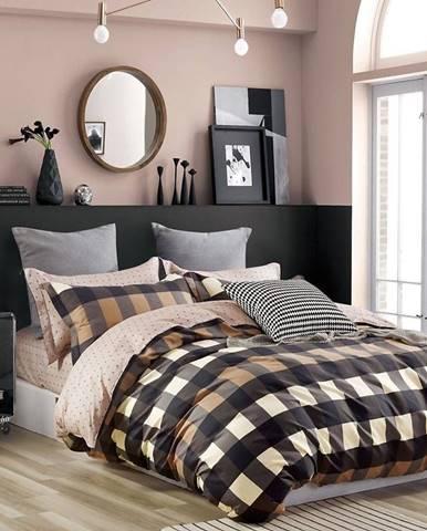 Bavlnená saténová posteľná bielizeň ALBS-01195B/3 160x200