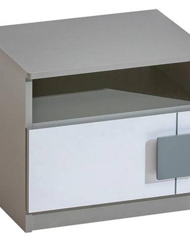 Nočný stolík Gumi G12 Brilantná biela/Antracyt