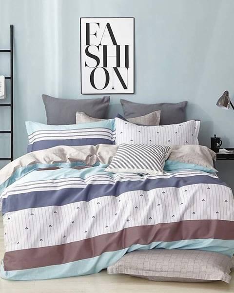 MERKURY MARKET Bavlnená sátenová posteľná bielizeň ALBS-0991B/2 140x200
