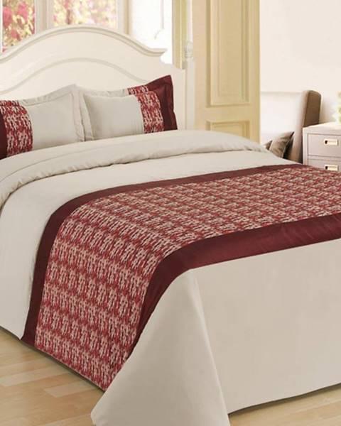 MERKURY MARKET Prikrývka na posteľ  170x220/ 1x60x40 NL-C915 béžová/červená