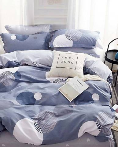 Bavlnená sátenová posteľná bielizeň ALBS-0972B/2 140x200