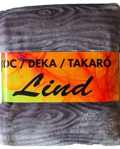 Deka Lind 130x170 sivý