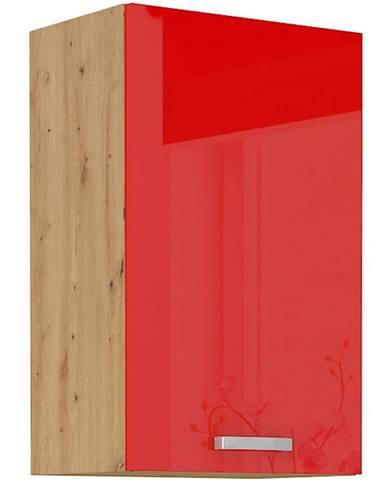 Skrinka do kuchyne Artisan červená lesk 45G-72 1F