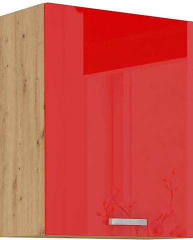 Skrinka do kuchyne Artisan červená lesk 60G-72 1F