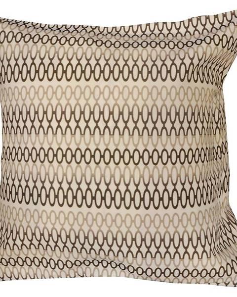 MERKURY MARKET Obliečka na vankúš K21727 45x45 hnedá