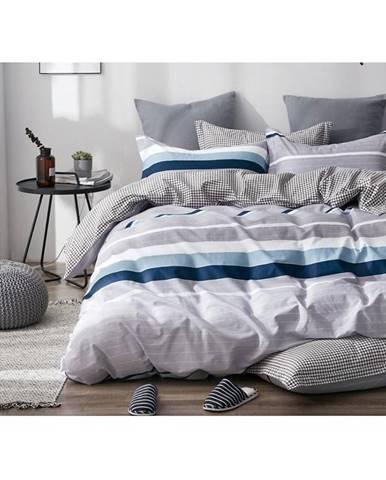 Bavlnená saténová posteľná bielizeň albs-01084b/2 140x200 lasher