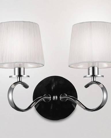 Clara Svietniková lampa 2x40w E14 Chróm / Biela