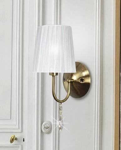 Sorento Svietniková lampa 1x40w E14 Patyna biele tienidlo