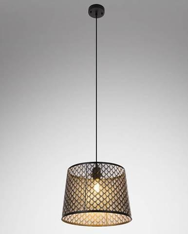 Závesná lampa 15315S kov čierno-zlatá LW1