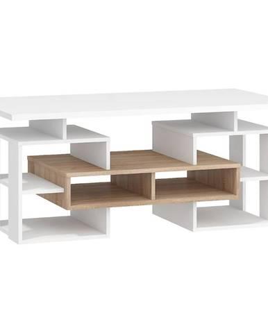 Konferenčný stolík W Rio-13 sonoma svetlý/biely