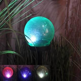 Solární svítidlo 1LED BY-131583 guľka mix 10