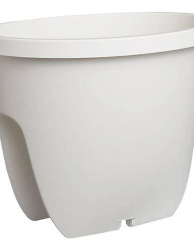 Truhlík Balconia Na Zábradlí Plast Bílý 30cm