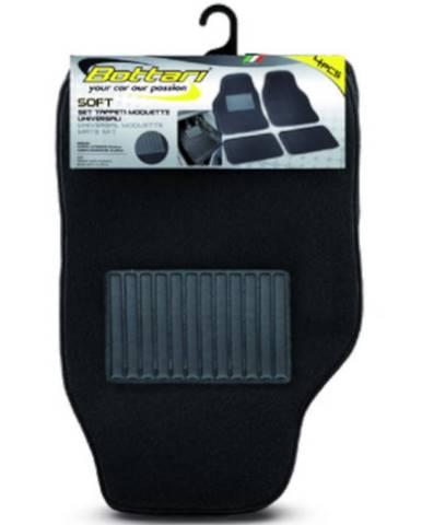 Koberce textilné 4ks soft čierne