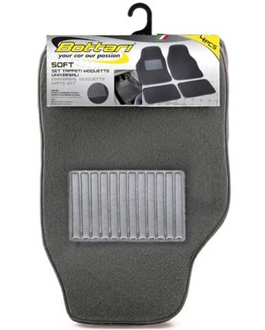 Koberce textilné 4ks soft šedé