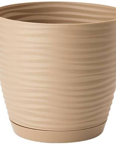 Sahara Petit okrúhly s podstavcom 11 cm caffe latte