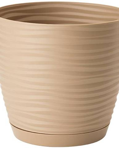 Sahara Petit okrúhly s podstavcom 13 cm caffe latte
