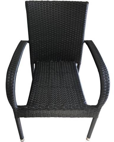 Ratanová stolička Haidi čierna