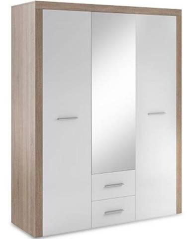Skriňa One 15 dub sonoma/biely lesk/zrkadlo (korpus+dvierok)