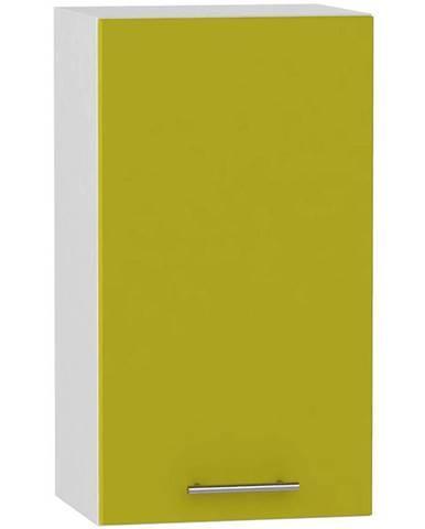 Skrinka do kuchyne Hana zelený lesk/biela W40 P BB