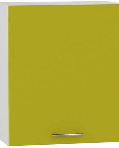 Skrinka do kuchyne Hana zelený lesk/biela W60 L BB