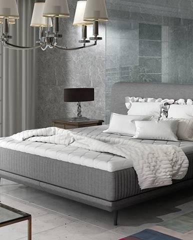 Ancona 180 čalúnená manželská posteľ sivá (Sawana 05)