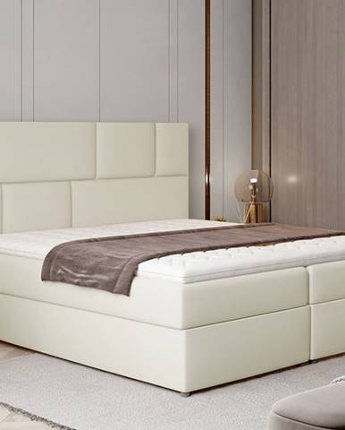 Ferine 185 čalúnená manželská posteľ s úložným priestorom béžová