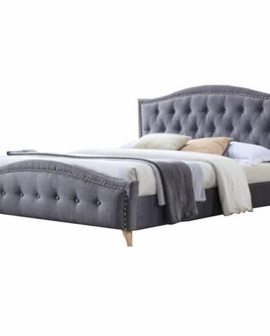 Giovana 180 manželská posteľ 180x200 cm sivá